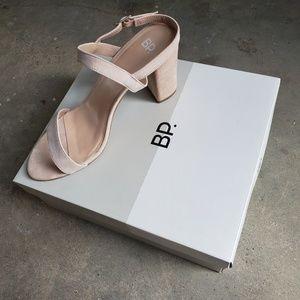 BP Block Heel in Blush Suede BPLULA-LEA